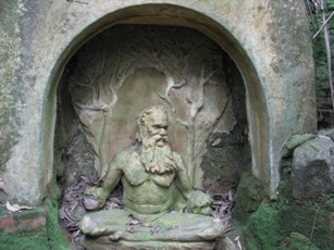 Meditating man - William Rickett's Sanctuary
