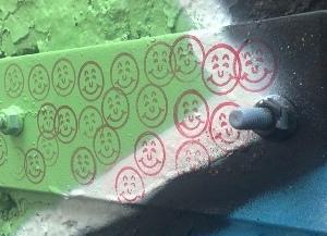 Part of a larger graffiti piece in Prahran, Melbourne (Vic, Aust)