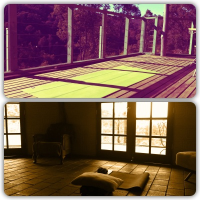 A serene place for yoga-ing!